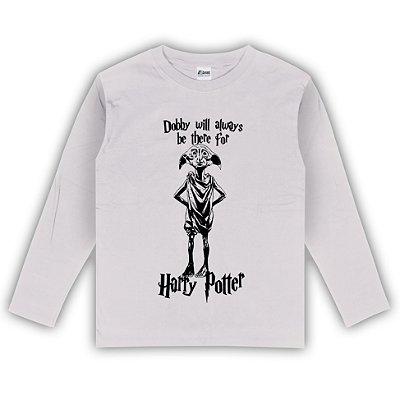 Camiseta Manga Longa Harry Potter Dobby