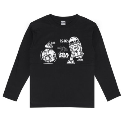 Camiseta Manga Longa C-3PO R2-D2 BB-8