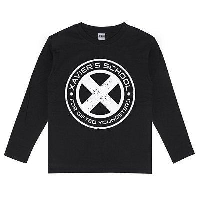 Camiseta Manga Longa X-Men Xavier School