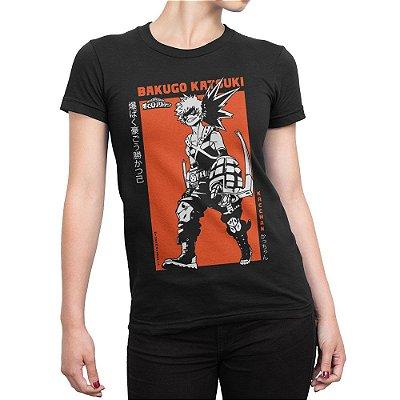 Camiseta Katsuki Bakugou Feminina