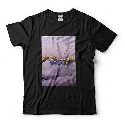 Camiseta A Criação de Adão Nuvens