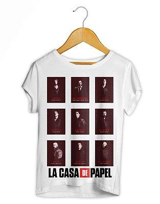Camiseta Feminina La Casa De Papel Posters