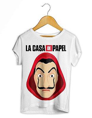 Camiseta Feminina La Casa De Papel Máscara