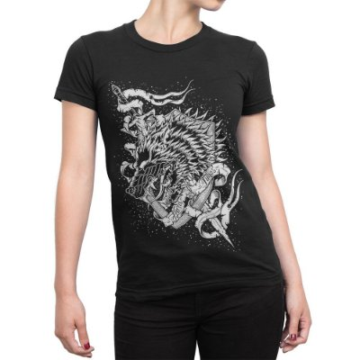 Camiseta Game Of Thrones Brasão Casa Stark Feminina