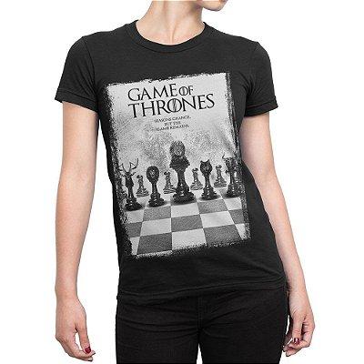 Camiseta Game Of Thrones Jogo de Xadrez Feminina