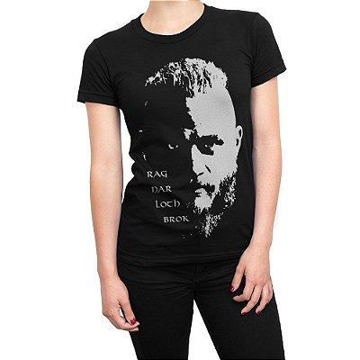 Camiseta Vikings Ragnar Lothbrok Feminina