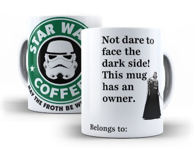Caneca Star Wars Coffe Darth Vader