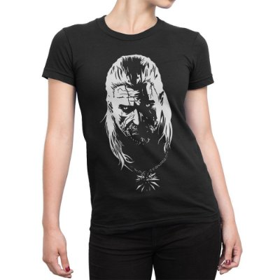 Camiseta Geralt de Rivia The Witcher Games Séries Feminina