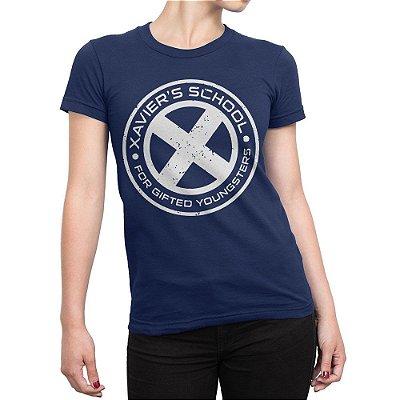 Camiseta X-Men Xavier School Feminina