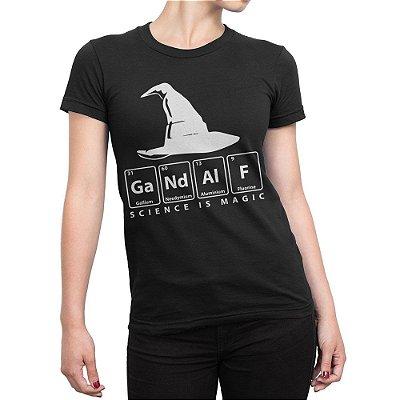 Camiseta Gandalf Químico Feminina