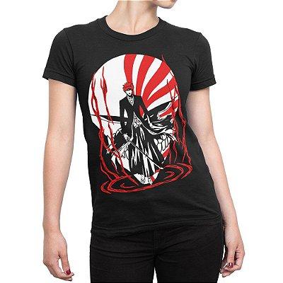Camiseta Ichigo Kurosaki Feminina