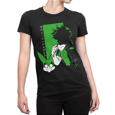 Camiseta Deku Izuku Midoriya Feminina