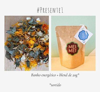 Presente 01: Banho relaxante + Blend degustação