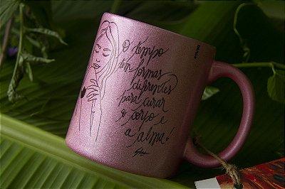 Caneca - O Tempo - Outubro Rosa - Glitter