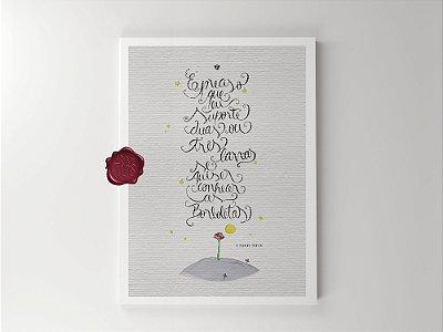 Print - Pequeno Príncipe - Borboletas