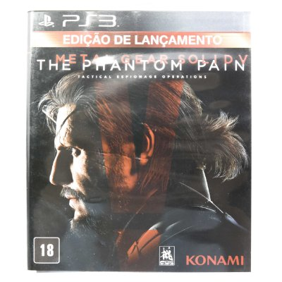 Jogo The Phantom Pain Metal Gear Solid V para PS3