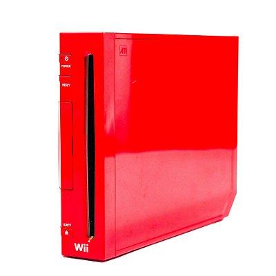 Nintendo Wii Red Rvl001, Versão 25 Anos Do Mario