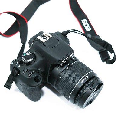 Câmera Canon EOS Rebel T5 Lente EF-S 18-5mm com Carregador