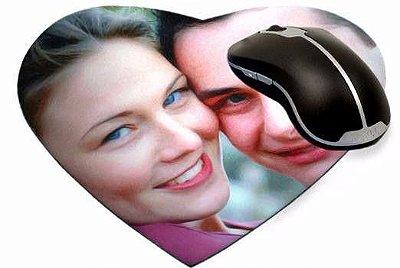 Mouse pad coração