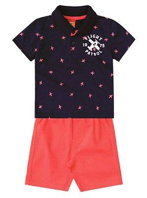 Conjunto KYLY - Camiseta Pólo e Bermuda Sarja