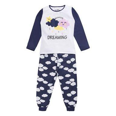 "Pijama Menina Nuvem - Color Mini ""Brilha no Escuro"""