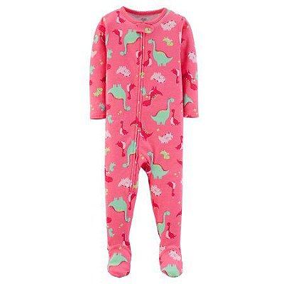 Pijama Macacão Dino - Menina - Carter's