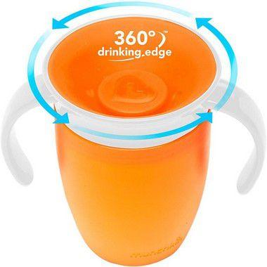 Copo Treinamento 360 com Alças - laranja - Munchkin