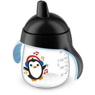 Copo Anti Vazamento Pinguim 260ml - Preto -  Avent Philips