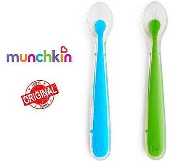 Colher Silicone Azul/Verde 2 unidades - Munchkin