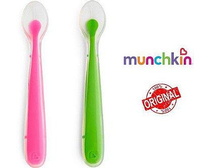 Colher Silicone Rosa/Verde 2 unidades - Munchkin