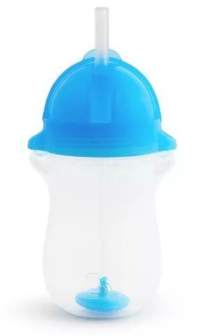 Copo Grande com Canudo Click Lock - Azul - Munchkin