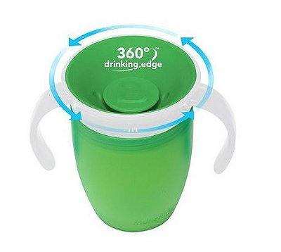 Copo Treinamento 360 com Alças  - Verde - Munchkin