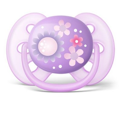 Chupeta Ultra Soft - Menina - Unitária - Flores - Avent Philips