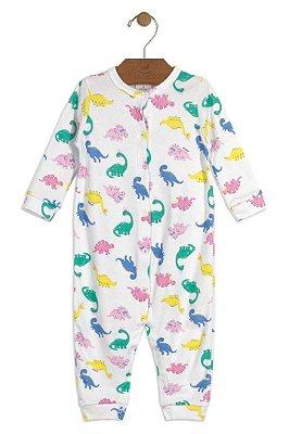 Macacão Manga Longa - Dinossauro Menina - Up Baby