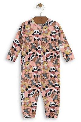 Macacão Manga Longa - Ursinha - Up Baby