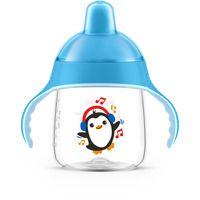 Copo Anti Vazamento Pinguim 260ml - Azul - Avent Philips