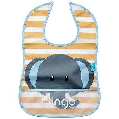 Babador Impermeável com Bolso - Elefante - Clingo
