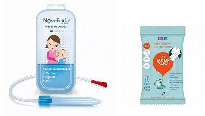 Kit Nosefrida + Lenço Assoar Baby