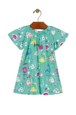 Vestido Midi Flamingo - Verde - Up Baby