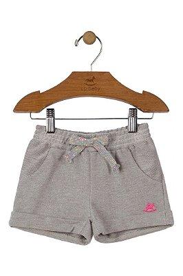 Shorts Moleton Menina - Cinza Claro - Up Baby