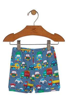 Shorts em Suedine - Carros - Up Baby
