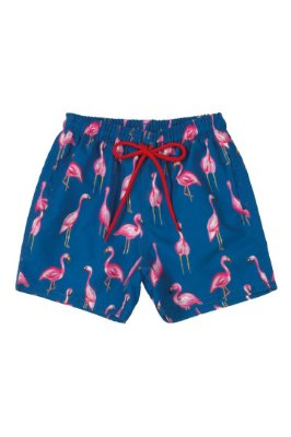 Bermuda Infantil Praia Microfibra - Flamingo - Up Baby
