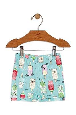 Shorts em Suedine - Cachorro - Menina - Up Baby
