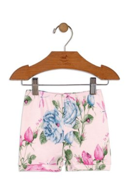 Shorts em Suedine - Floral - Up Baby