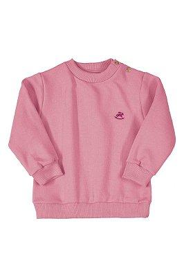 Blusão em Moletom - Rosa - Up Baby