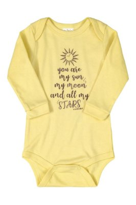 Body Manga Longa - Amarelo Sol - Up Baby