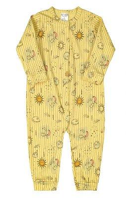 Macacão Manga Longa - Amarelo Sol - Up Baby