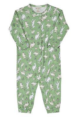Macacão Manga Longa - Dinossauro Verde - Up Baby