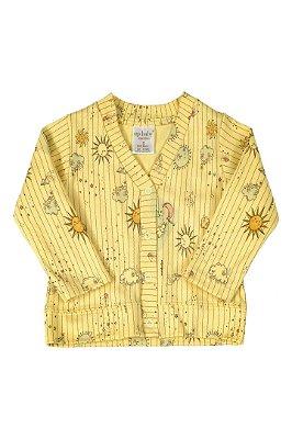 Casaco em Suedine - Amarelo Sol - Up Baby