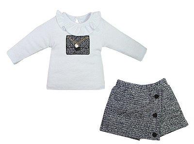 Conjunto Saia Shorts Chanel - Grow Up